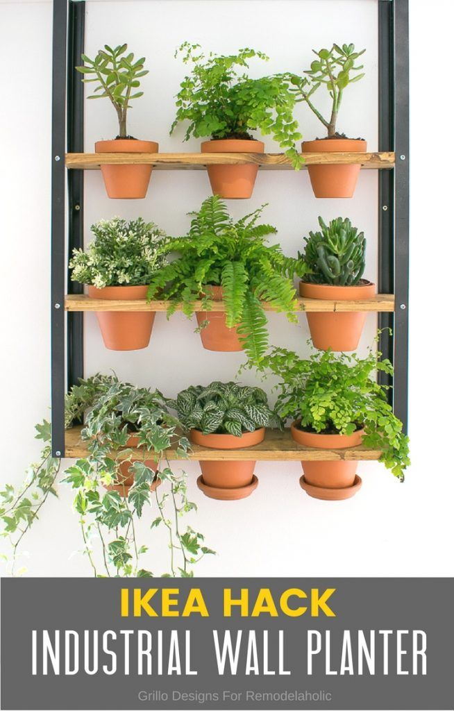 Hyllis Ikea Hack For An Industrial Wall Planter