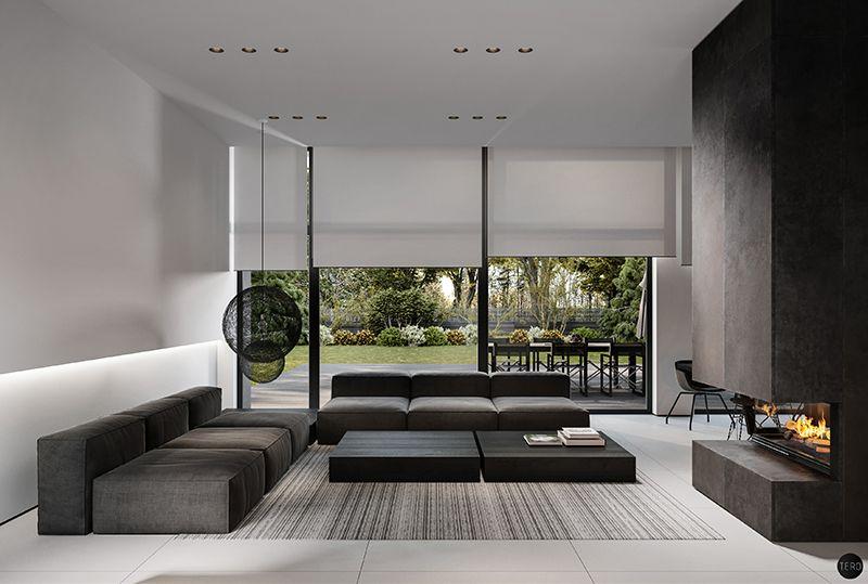 Entwerfe Dein Minimalistischen Innenraum Haus Am Walde