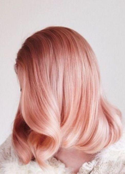 Solid Rose Gold Hair Peach Hair Hair Color Rose Gold Pink Hair