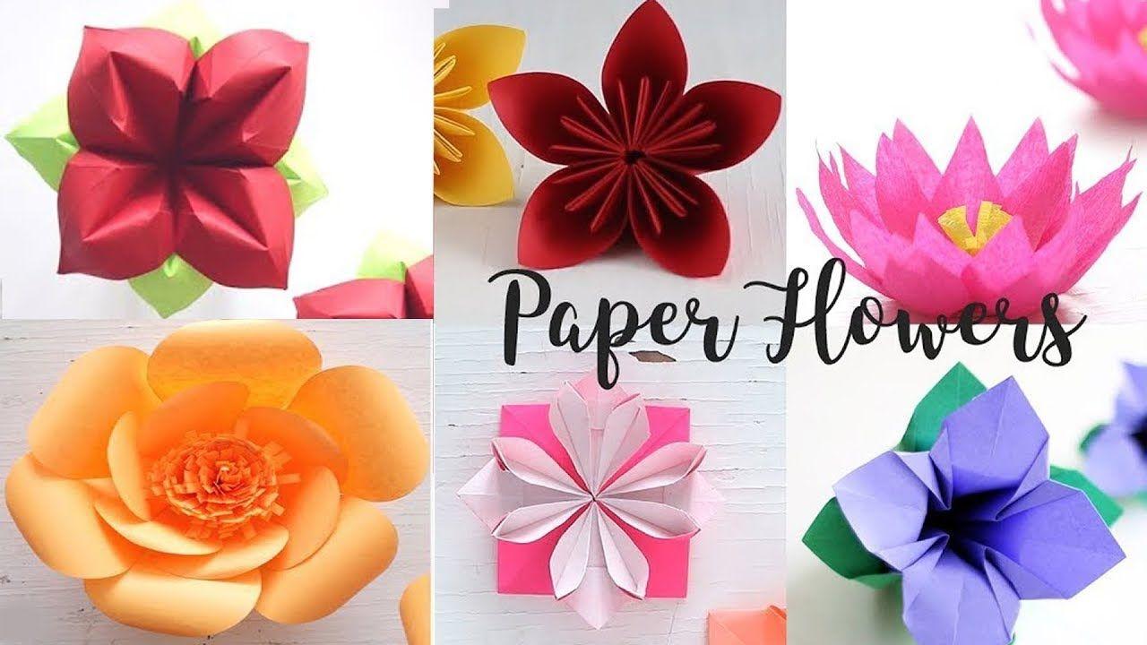 6 Easy Paper Flowers Flower Making Diy Manualidades Como