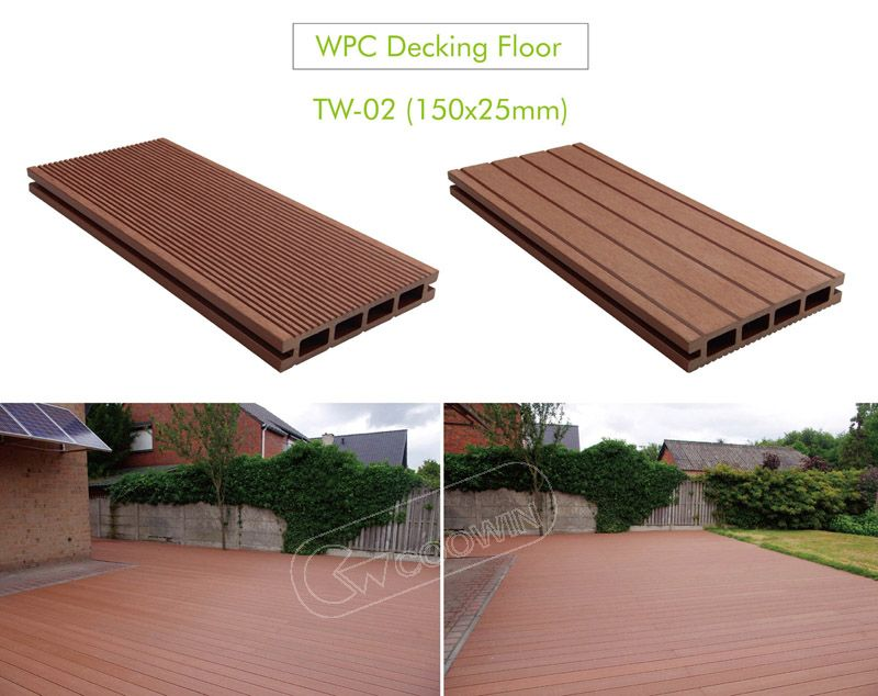 The Wpc Decking Is Beautiful And Cheap Waterproof Moisture Flame Retardant Effect Is Very Good At The Same T Wpc Decking Wood Plastic Composite Deck Projects