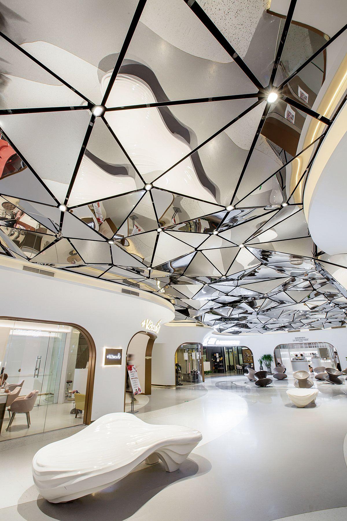 萧山万象汇 即刻广场 On Behance Interior Ceiling Design Interior Architecture Design Commercial Interior Design