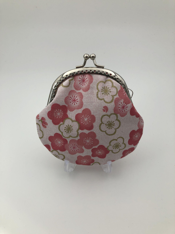 Japan Floral Spring Sakura Kisslock Coin Purse  Clasp Coin Purse  Change Wallet