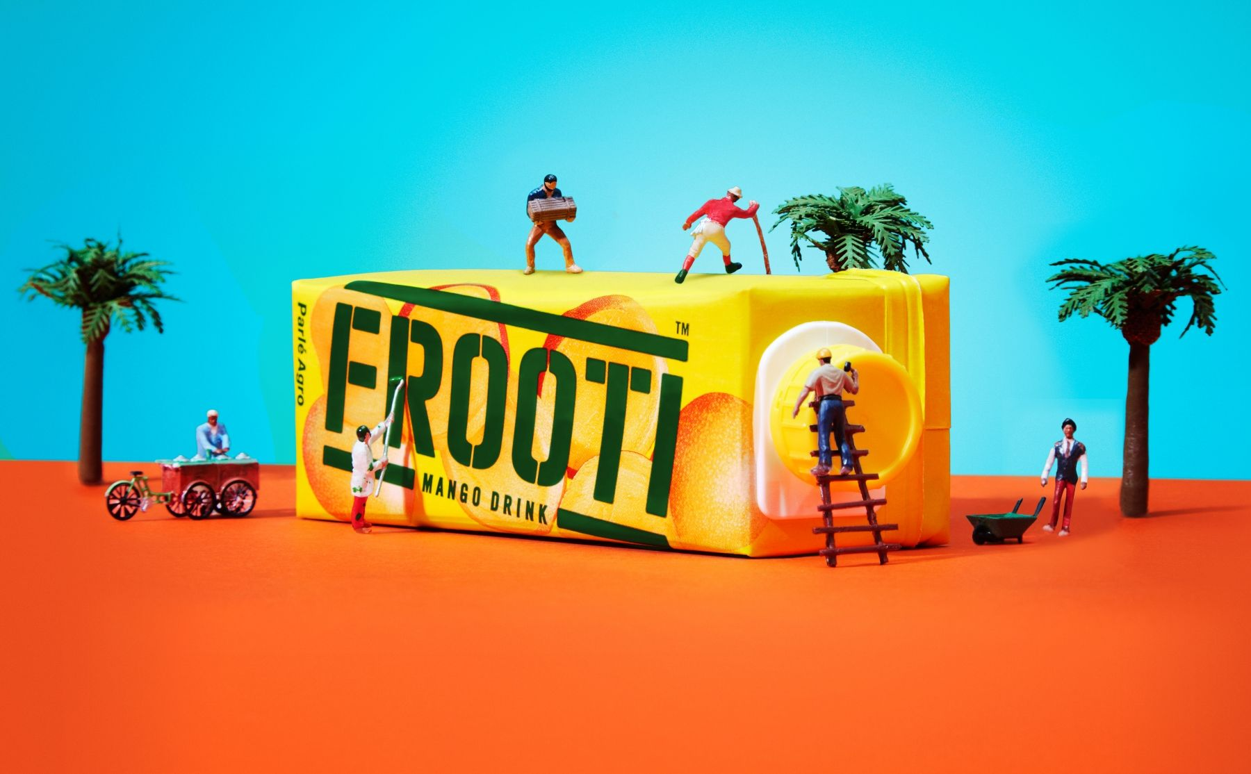 Tiny People Struggle to Make a Fruit Drink in This Fun and