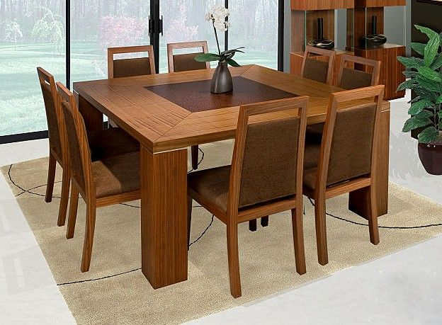 9 pc modern dining set w square table eight chairs excel for