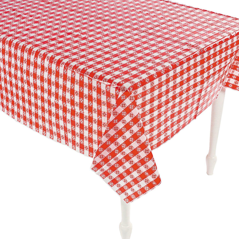 $1699 Per Dozen 52 X 90 Red & White Checkered