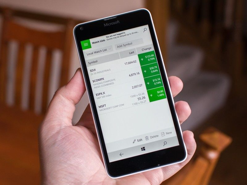 TD Ameritrade Windows 10 app supports Mobile Windows 10