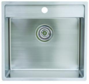 Lavabo Nexus 50 Køkkenvask 48x51 cm, m/Kurvenventil, Rustfrit Stål