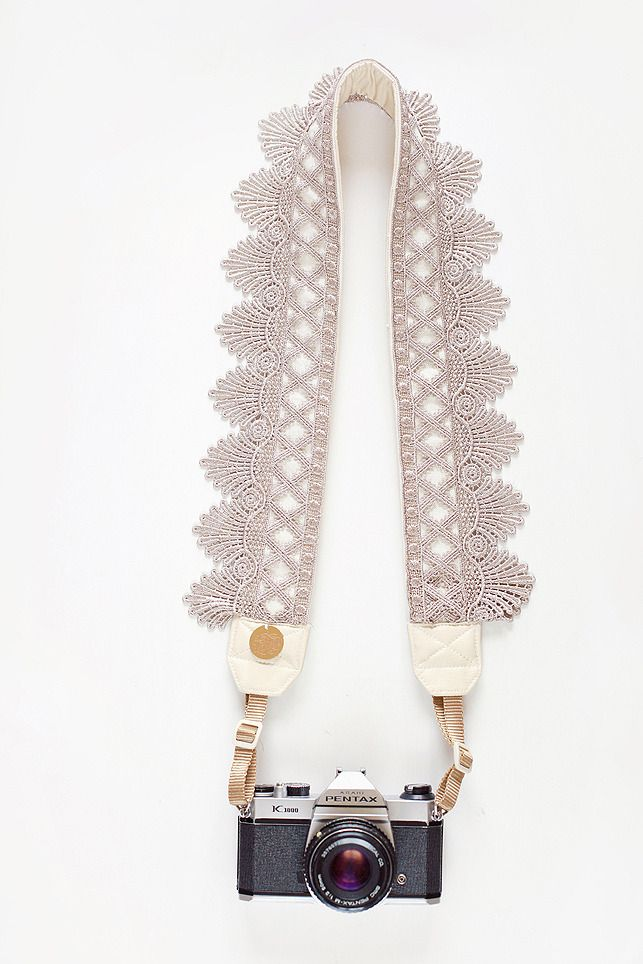 As a photog, I'd love a pretty lace camera strap like this!
