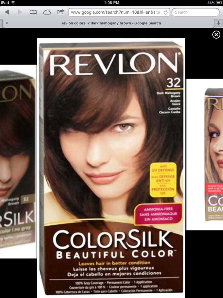 Dark Mahogany Brown From Revlon Colorsilk