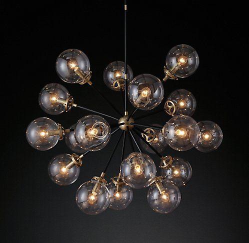 All Ceiling Lighting Rh Modern Moonrock Globe
