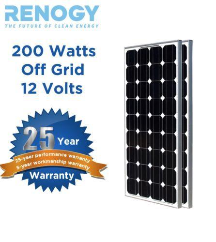 2pcs 100w Watts 200w Off Grid 12 Volt 12v Rv Boat Usa Solar Cells Ship In 24hrs Ebay Solar Panels Solar Solar Battery