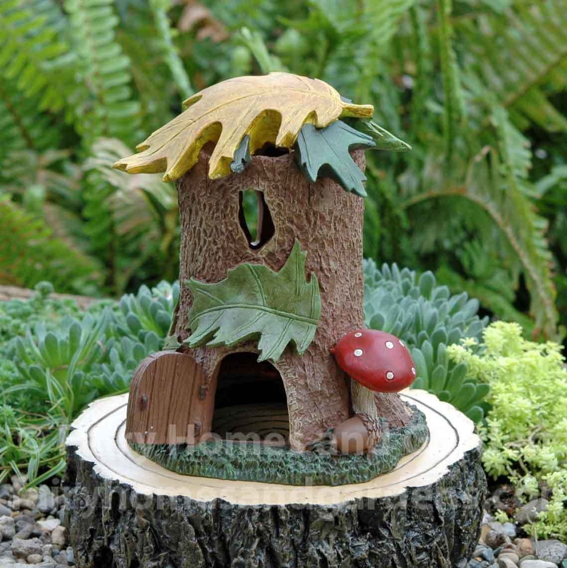 Fairy homes and gardens enchanted guardian tree stump