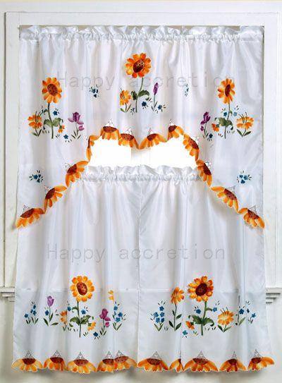 kitchen curtains - Bing Images Cortinas Y Ventanas