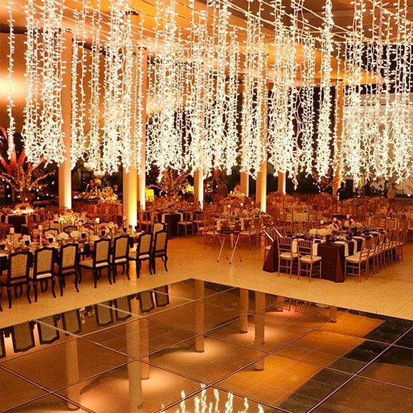string lights for wedding decorations the prettiest wedding floors we ve seen 7784