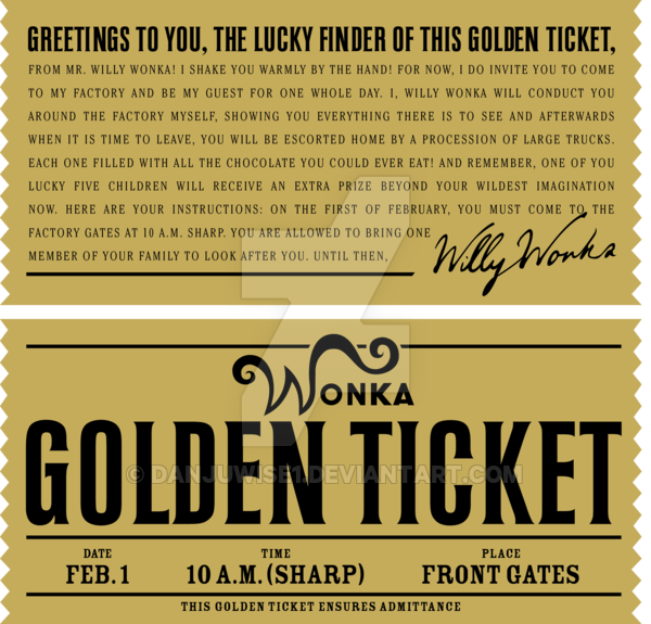 photo about Golden Ticket Printable named Pin upon Sweets and magic