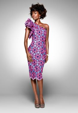 From the archive: a party look from Vlisco's 2011 'Delicate Shades' collection | #vlisco #delicateshades #dutchwax #waxhollandais #africanprint #africanprintfashion #ankara #fashion #dress #partylook #lookbook #womenfashion