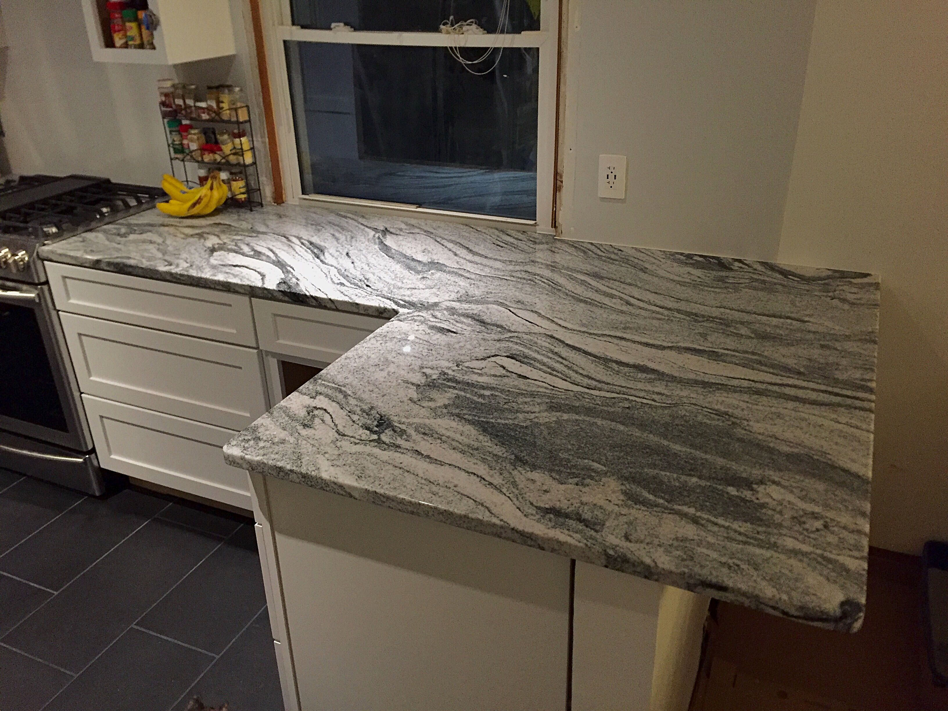 viscount white granite kitchen