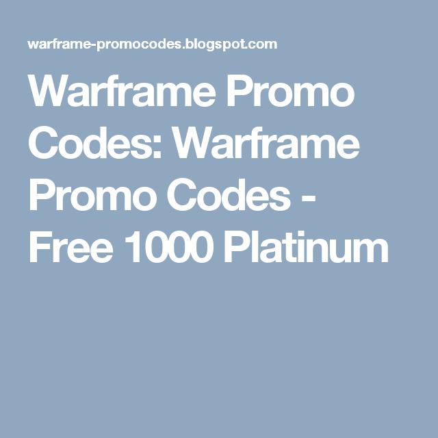 промокоды на warframe 2017 на платину