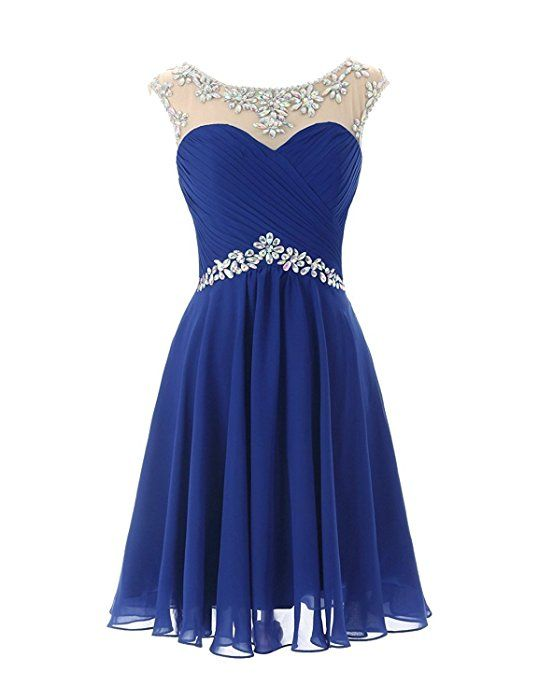 Cocktailkleid blau strass