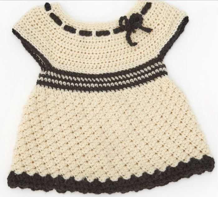 Girls Clothes See The Free Pattern Of This Crochet Baby Dress