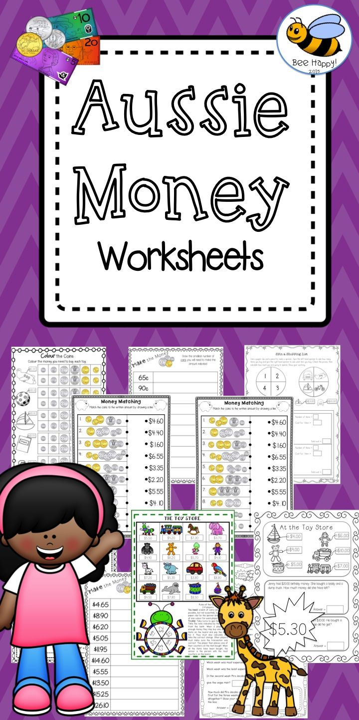 Australian money worksheets year 23 australian money money australian money worksheets counting groups of coins matching prices shopping problems and calculating change robcynllc Gallery