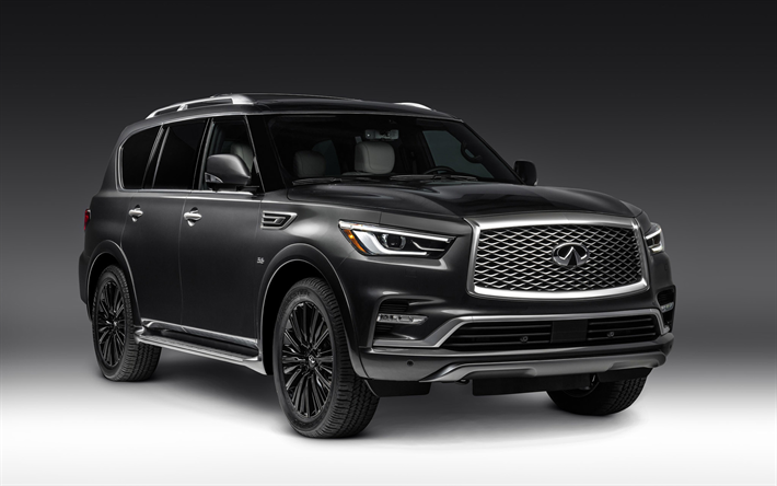 Download Wallpapers Infiniti Qx80 Limited 2019 Cars Suvs New Qx80 2019 Infiniti Qx80 Studio Infiniti Suv De Luxo Hilux Sw4 Carros Japoneses