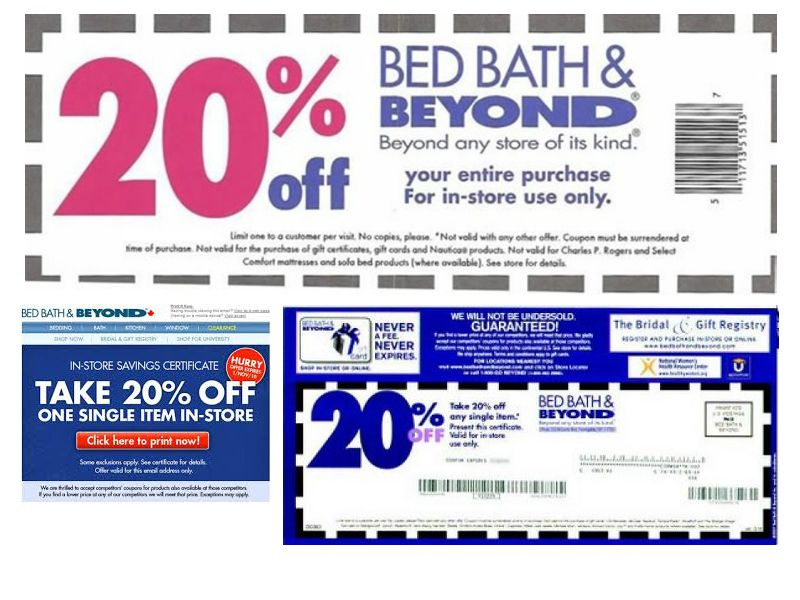 Find 20 Off Coupons For Bed Bath And Beyond And Other Special