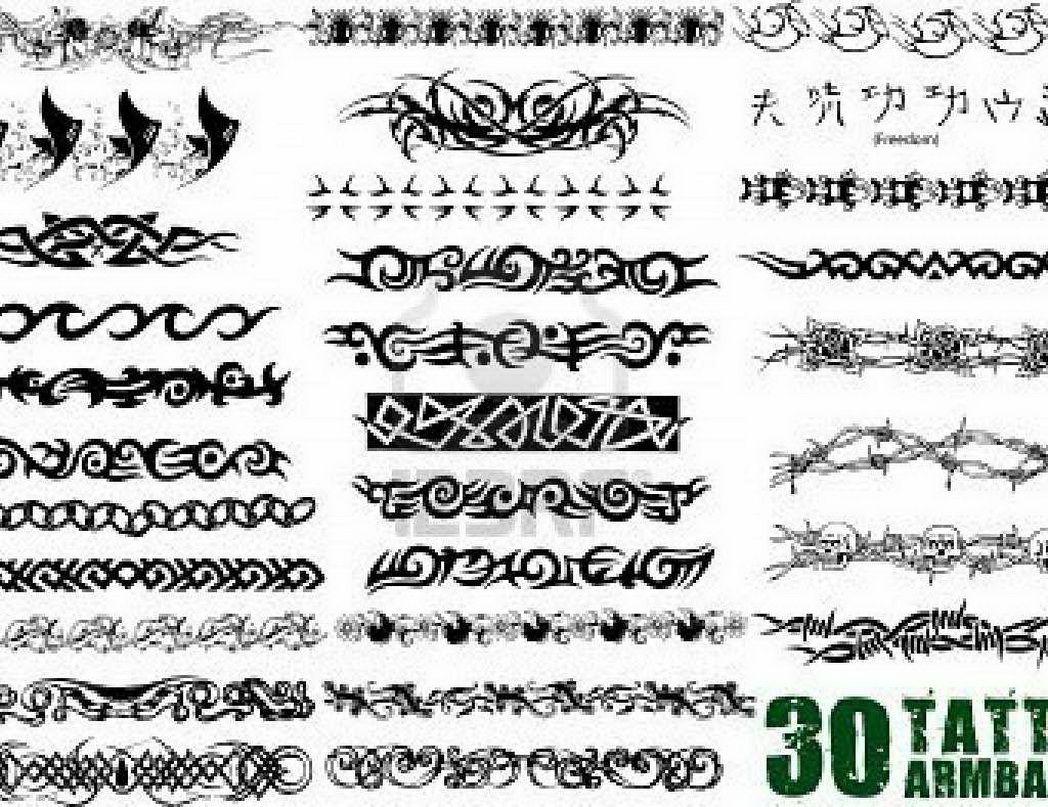 Tattoo Back Unusual Tribal Tattoo Armband Designs For