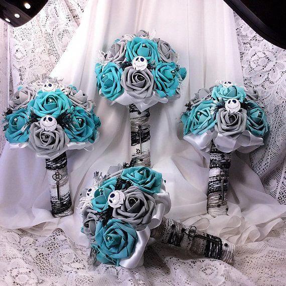 Bridal Bouquet Disney inspired Wedding Theme Nightmare Before