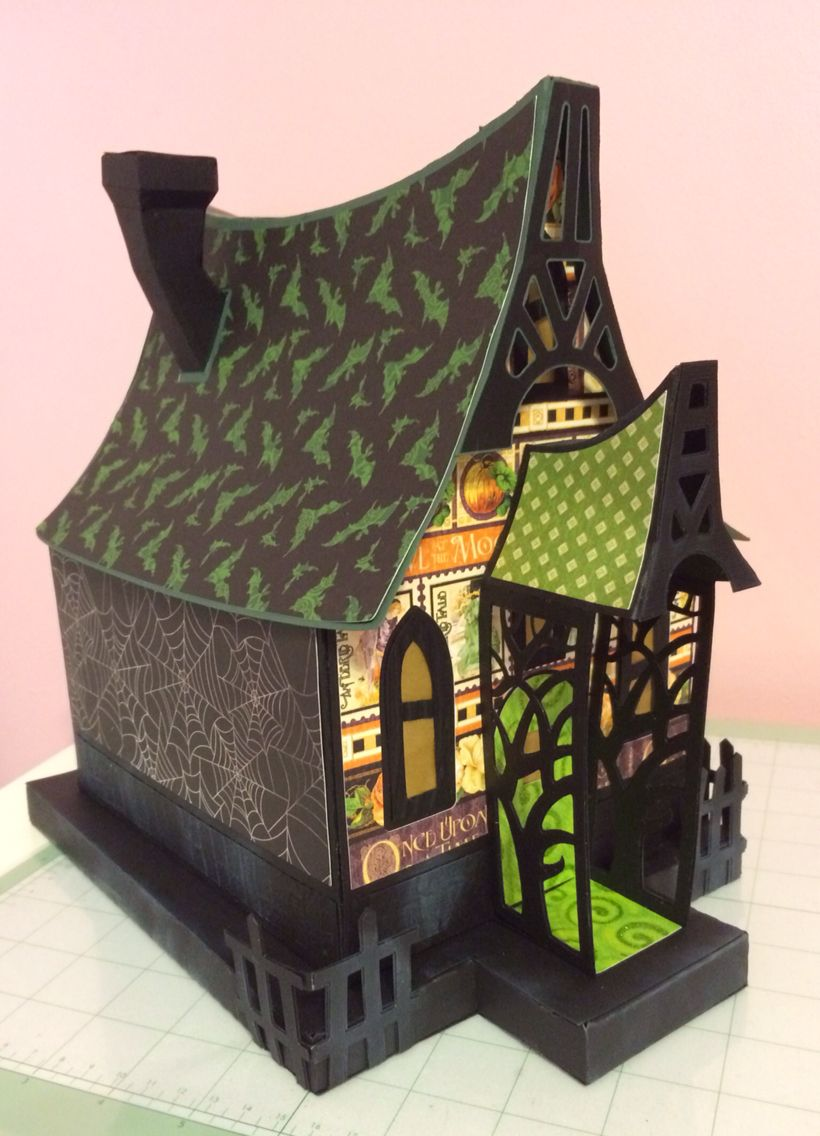 Bewitched cabin Cardboard house, Halloween house, Paper