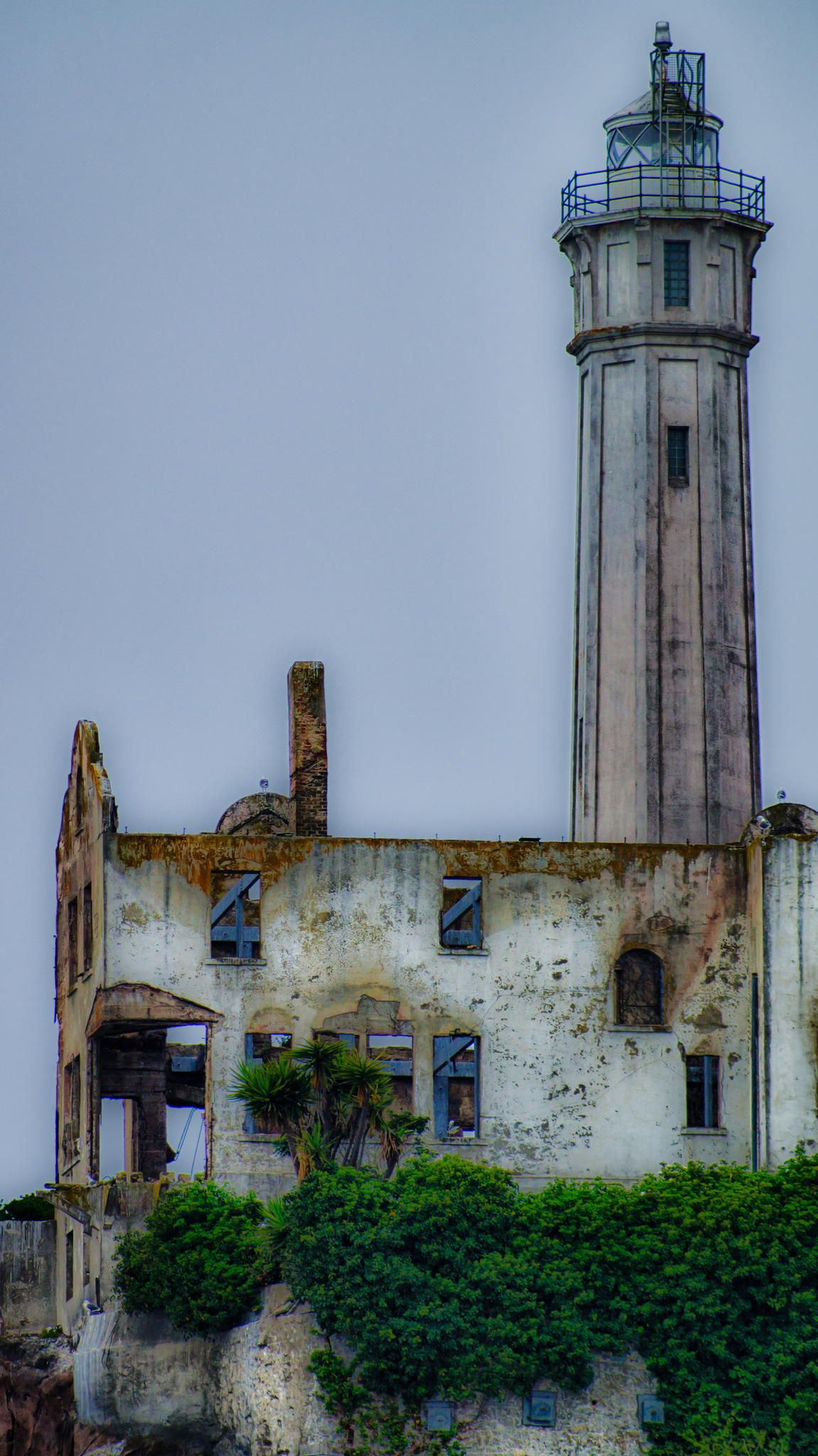 Light house and Wardens house on Alcatraz Island