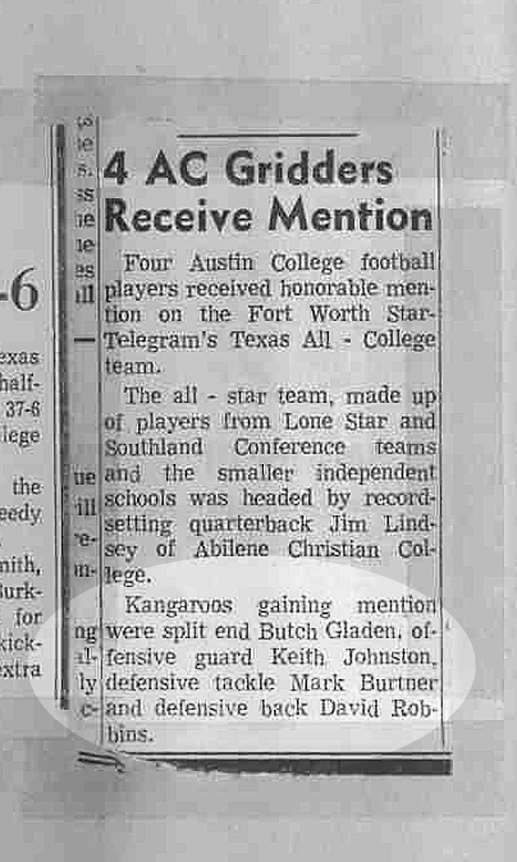 All texas college team 1970 austin college college