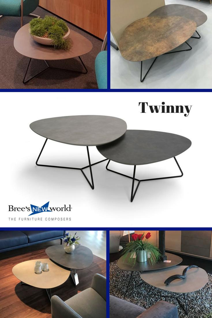 Nieuwe Salon Tafel.De Nieuwe Sierlijke Set Bijzettafels Twinny Van Bree S New