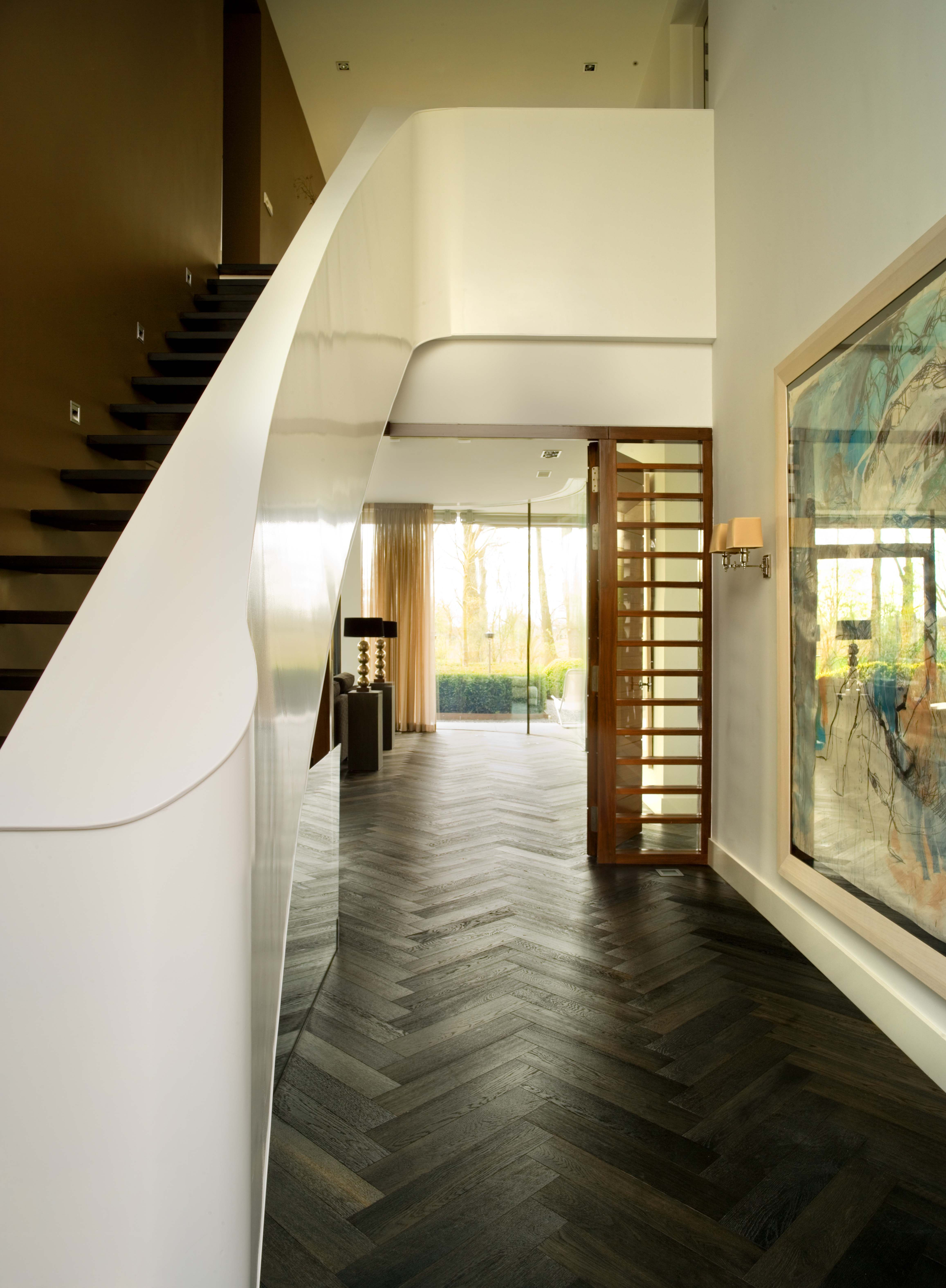 vloeren breda houten vloer in een klassiek