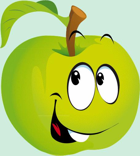 émoticônes Smileys Cliparts Visage Pomme Vert Heureux Rire