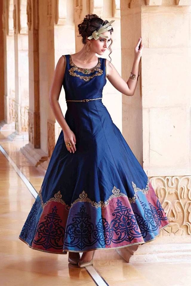 Make an incredibly stylish fashion statement with this classy blue ...