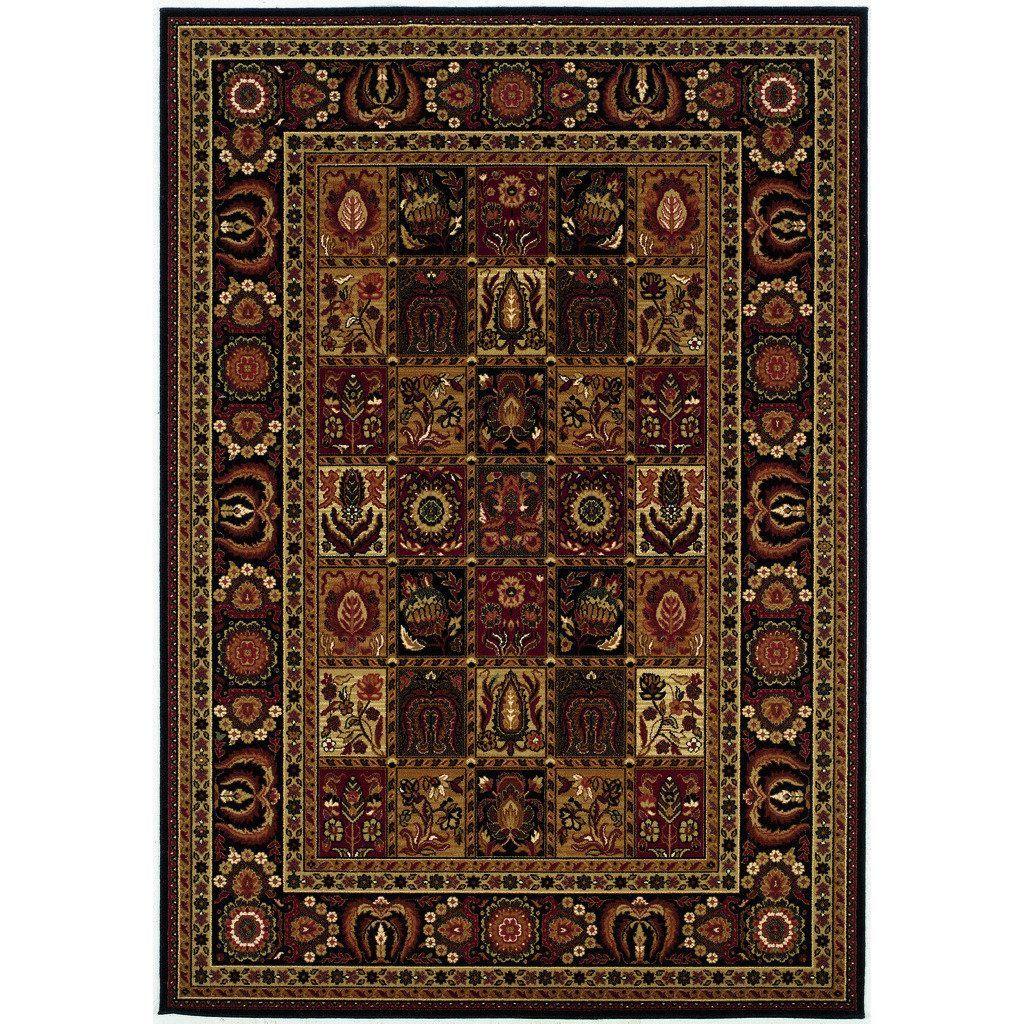 Couristan Royal Kashimar Antique Nain Black Rug 9 10 X 13 9 9 10 X 13 9 Black Rug Wool Area Rugs Area Rugs