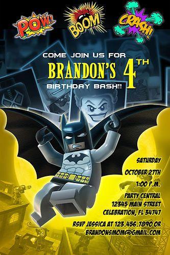 BATMAN 1 CUSTOM BIRTHDAY PARTY INVITATION PHOTO PRINTABLE SUPERHERO