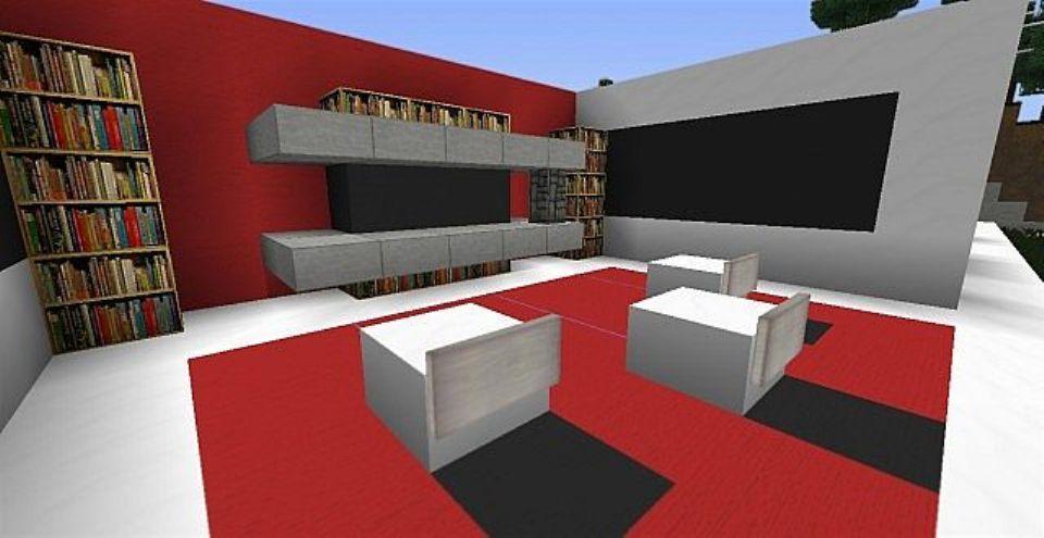 Shabby Diy Living room ideas in minecraft
