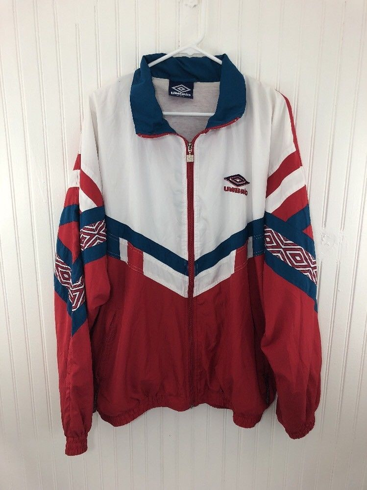 28da726e4a VINTAGE TRACK TOP JACKET TRAINING UMBRO Men's Size 2XL XXL Rare Striped Red  | Clothing, Shoes & Accessories, Men's Clothing, Athletic Apparel | eBay!