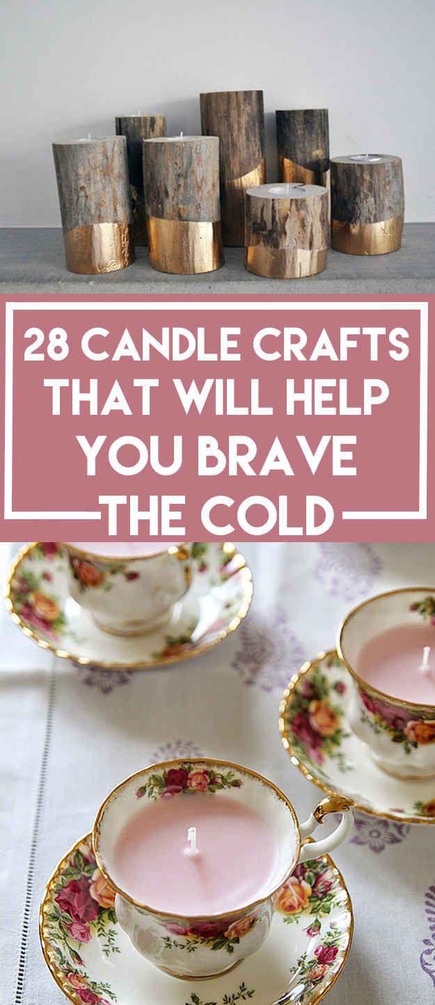 28 diy candles that will help you brave the cold crafts pinterest chandelle bougies et. Black Bedroom Furniture Sets. Home Design Ideas