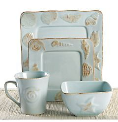 Seashore Dinnerware Set (Bealls $27)  sc 1 st  Pinterest & Florida Marketplace 4-pc. Seashore Dinnerware Set (Bealls $27 ...