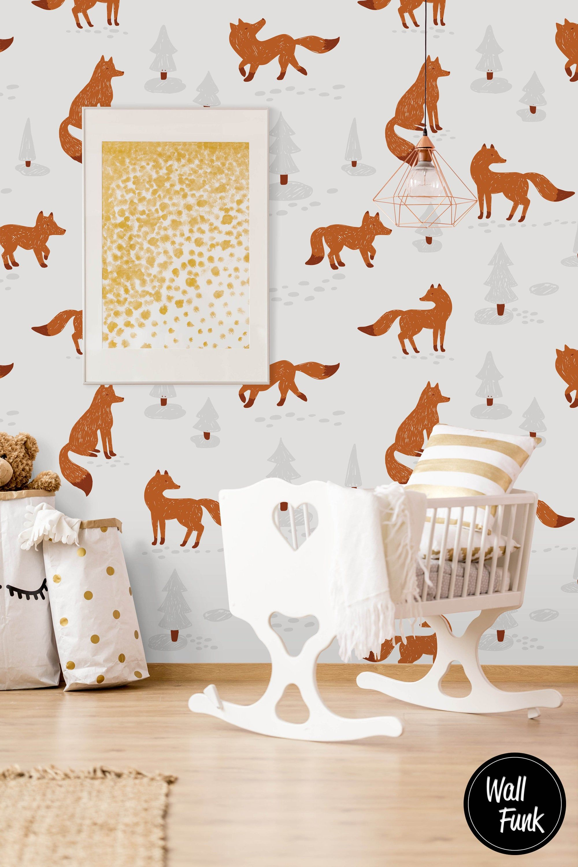 Fox Nursery Wallpaper Nursery Wallpaper Removable
