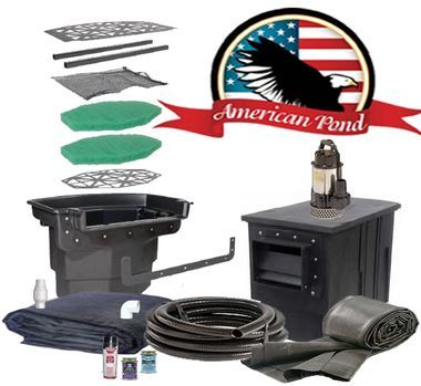 American Pro Titan Pond Kit 16'x21' -upgrade with Stainless Direct Drive Pump