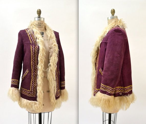 Fabulous Vintage Afghan Hippy Embroidered Sheepskin Coat. | eBay ...