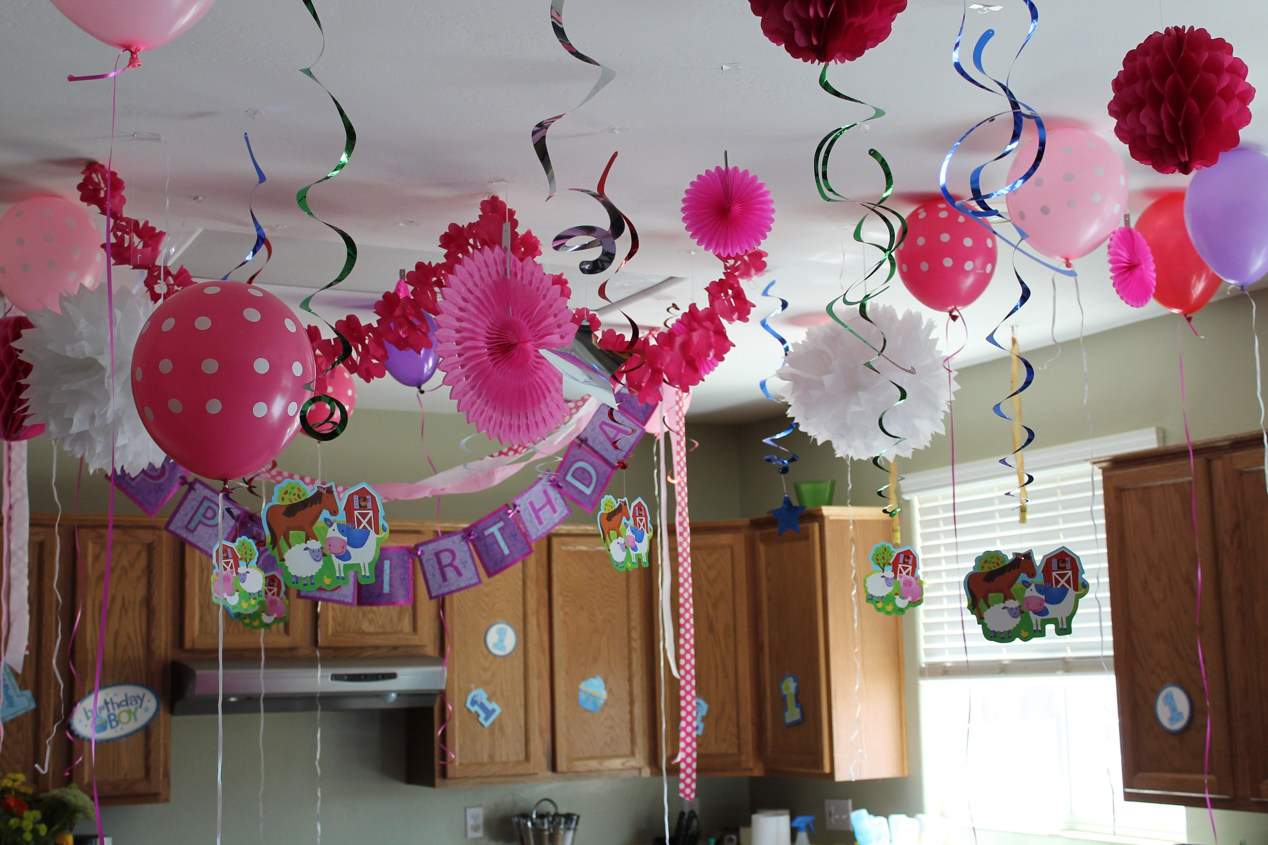 First Birthday Decoration Ideas At Home For Girl   Fresh First Birthday  Decoration Ideas At Home For Girl, Birthday Decoration At Home For Baby Girl  Cheap