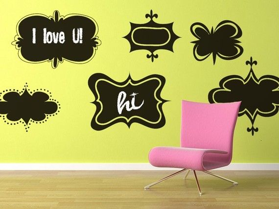 Vinyl Wall Retro Chalkboard Decal Sticker Art by Wordy Bird Studios ...
