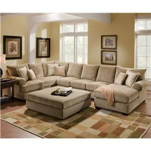 4510 Casual Sectional Sofa Group with Chaise by Corinthian ...