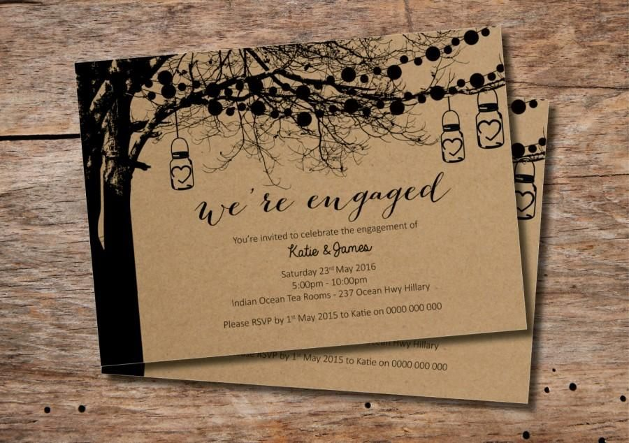 custom-printable-engagement-party-invitation-vintage-tree-design.jpg ...